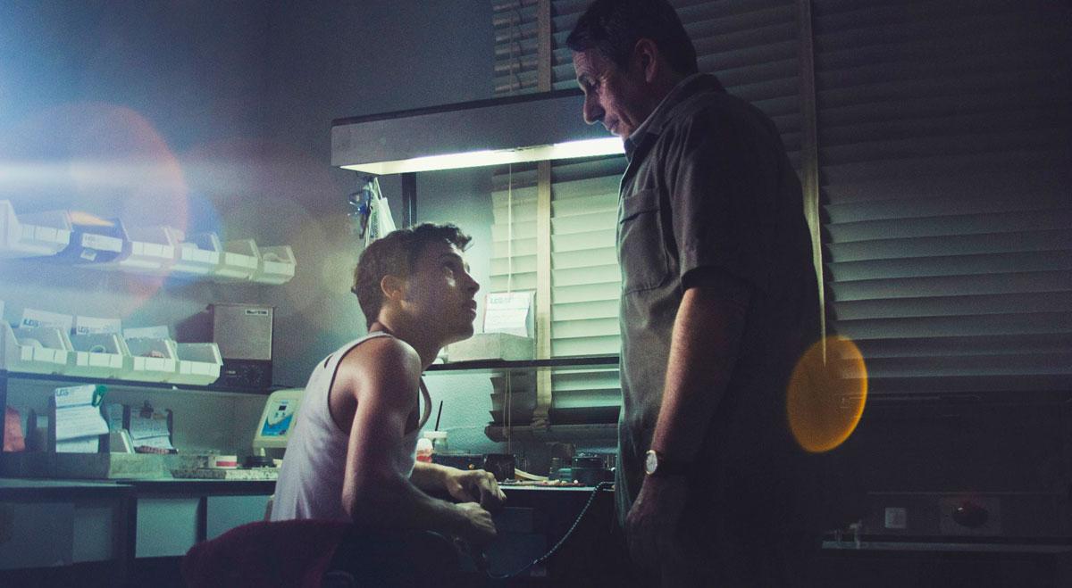 Alfredo Castro y Luis Alejandro Díaz en escenas del film. Foto cortesía: Lorenzo Vigas.