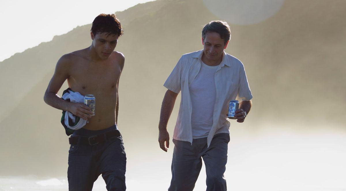 Los actores Alfredo Castro y Luis Alejandro Díaz. Foto cortesía: Lorenzo Vigas.