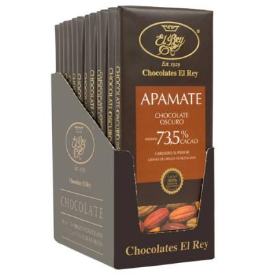 Chocolate oscuro 73.5% Cacao. Chocolate El Rey.