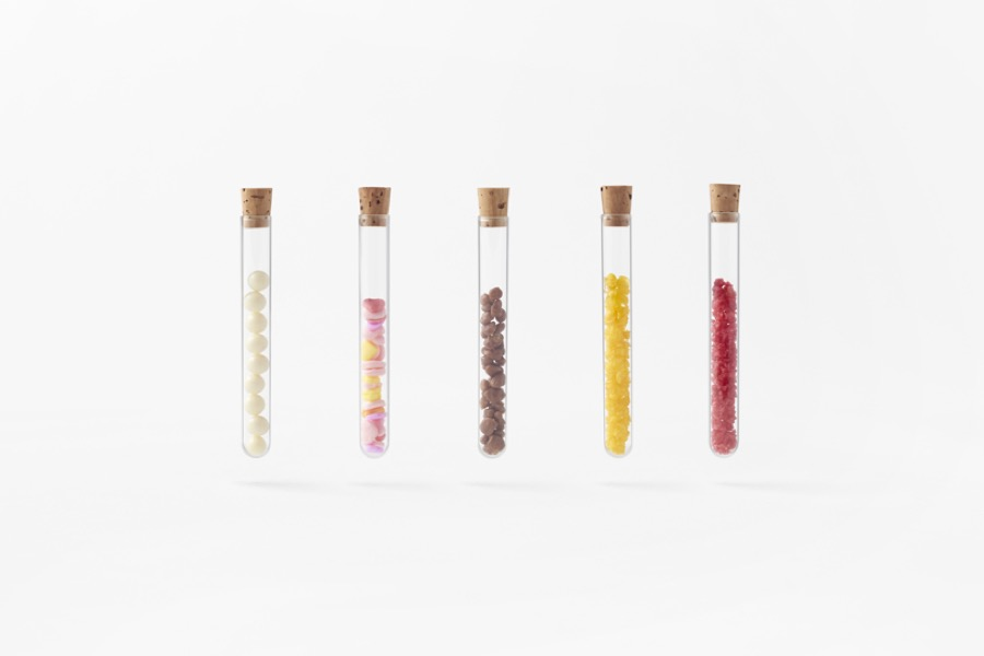 Diferentes sabores del kit de ChocolaMixture. Foto: nendo.jp