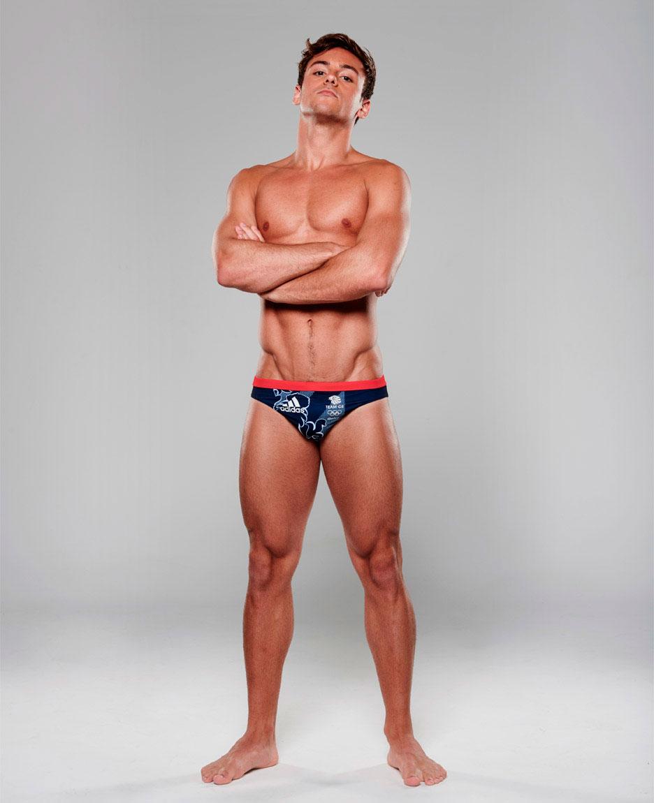 Clavadista olímpico Tom Daley. Foto: Adidas.