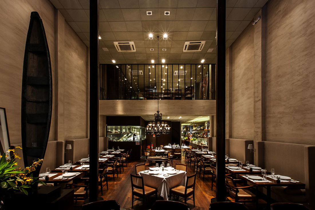 Vista interior de D.O.M Restaurant. Foto: Rubens Kato