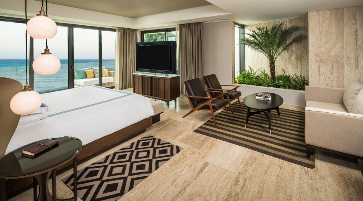Panoramic Corner Suite de la Thompson Beach House. Foto: thompsonhotels.com