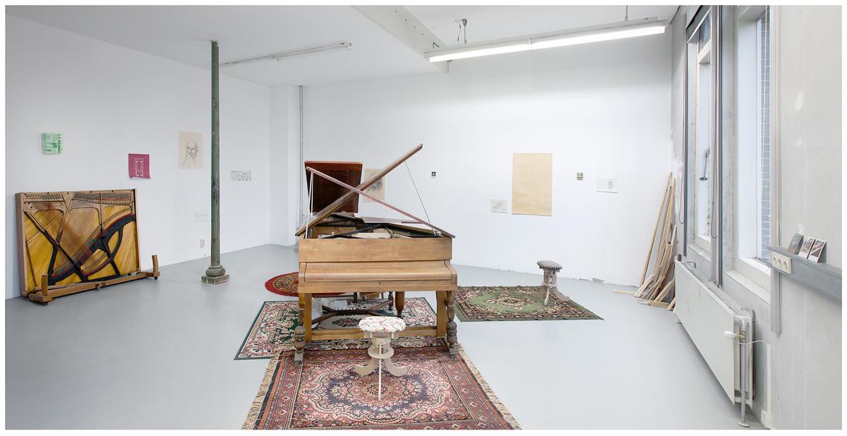 Representación de un piano, Open Studio Rijksakademie, Ámsterdam, Holanda. 2014