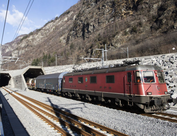 Puesta en marcha. Foto: © AlpTransit Gotthard Ltd.