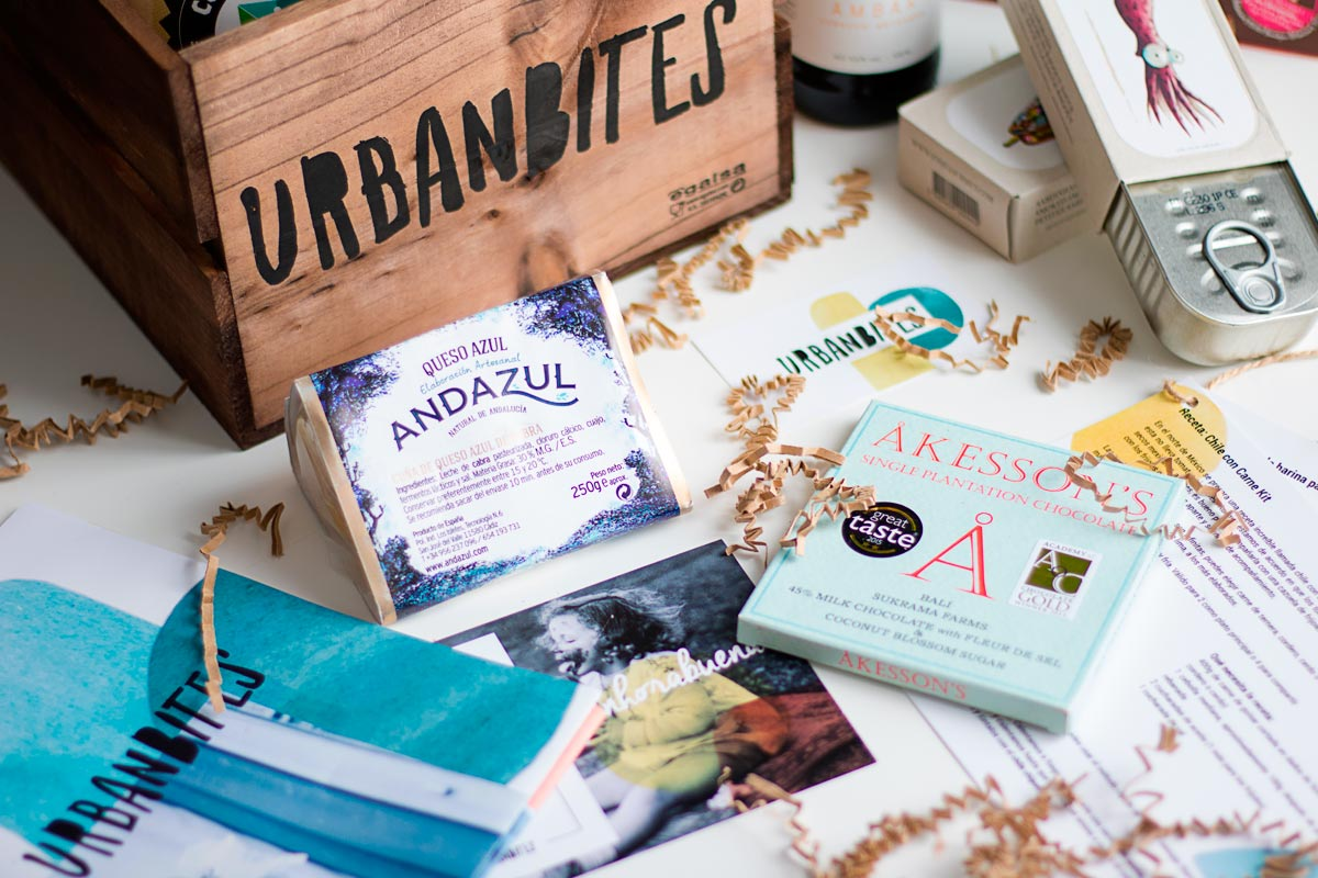 Caja de Urbanbites con sus gama de productos. Foto: urbanbites.com